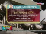 BP: Power interruption sa ilang bahagi ng Batangas City