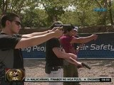 24 Oras: Richard Gutierrez, Sid Lucero at Paolo Contis, nagsasanay sa target shooting