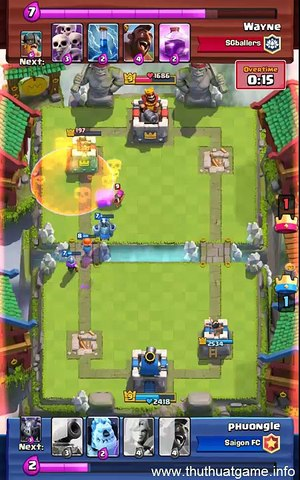 [Clash Royale] My top lure Elite Barbarian by Ice Golem moments