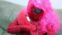 Spiderbaby Poo Colored Balls w/ Spider Girl & Spiderman vs Joker and Elsa Poo Prank Superhero IRL