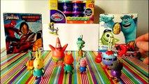 Peppa Pig and Spongebob Squarepants play with Patrick Star, Squidward Tentacles, Sandy Cheeks Krabs