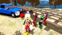 Mickey Mouse Dancing with Spiderman Green Lantern Deadpool and Cars Crazy Stuff Nursery Rhymes