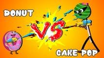 Cake pop vs Donut vs Jelly vs Ice cream finger family songs collection| Nursery rhyme|Kids songs rhymes|Kids animations