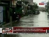 QRT: Ilang bahagi ng Metro Manila, nakaranas ng ulan kaninang hapon