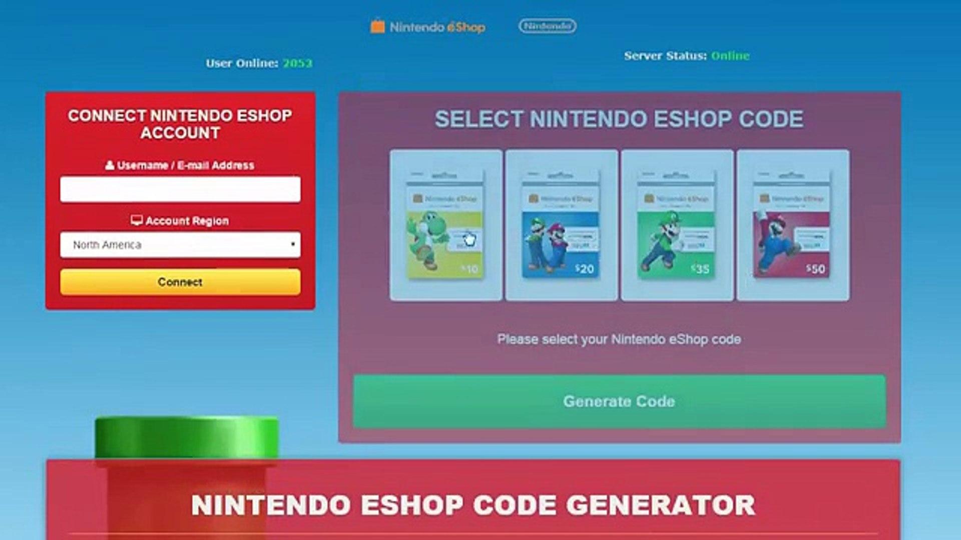 wii u eshop code generator