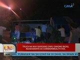 UB: Truck na may kargang saku-sakong bigas, naaksidente sa Commonwealth ave.