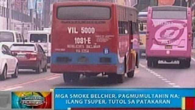 Mga smoke belcher sa Davao City, pagmumultahin na; ilang tsuper, tutol sa patakaran