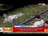 BT: 23-anyos na lalaki sa Pandacan, Manila, patay nang masagasaan ng tren