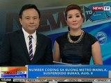 NTG: Number coding sa buong Metro Manila, suspendido bukas, Aug. 9