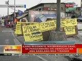 BT: Ilang residente sa Tondo, nagbarikada dahil sa pangambang ide-demolish na ang mga tirahan