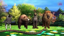 Learn Domestic Animals For children | Animals Cartoons For Children | 3D Animation Rhymes