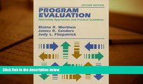 Download [PDF]  Program Evaluation: Alternative Approaches and Practical Guidelines (2nd Edition)