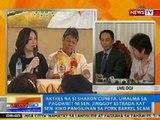 NTG: Sharon Cuneta, umalma sa pagdawit ni Sen. Estrada kay Sen. Pangilinan sa pork barrel scam