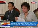 NTG: BIR, pinasasampahan ng kasong tax evasion sa DOJ si Janet Napoles at asawang si Jaime Napoles