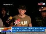 NTG: Sr. Supt. Chiquito Malayo, tinanggal bilang OIC ng Zamboanga City Police