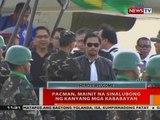 BT: Pacman, mainit na sinalubong ng kanyang mga kababayan sa GenSan
