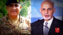 COAS Qamar Javed Bajwa telephones Afghan President Ashraf Ghani 16-01-2017 - 92NewsHD