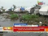 BT: Mga evacuee sa Tacloban, nangangamba dahil sa masamang panahon