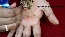 easy simple mehndi henna designs tutorials-Mehndi design for hands begineers