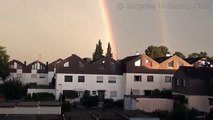 Real Double Rainbow HD - Two rainbows in a couple pair - Magic trick of nature