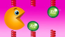 Learn Colors Pacman for Toddlers Kids - Spring Colors M&Ms - Fun Learning Colours Videos for Kids