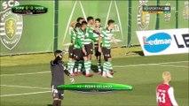Braga B marca golo enquanto os Sporting B festejava um golo anulado