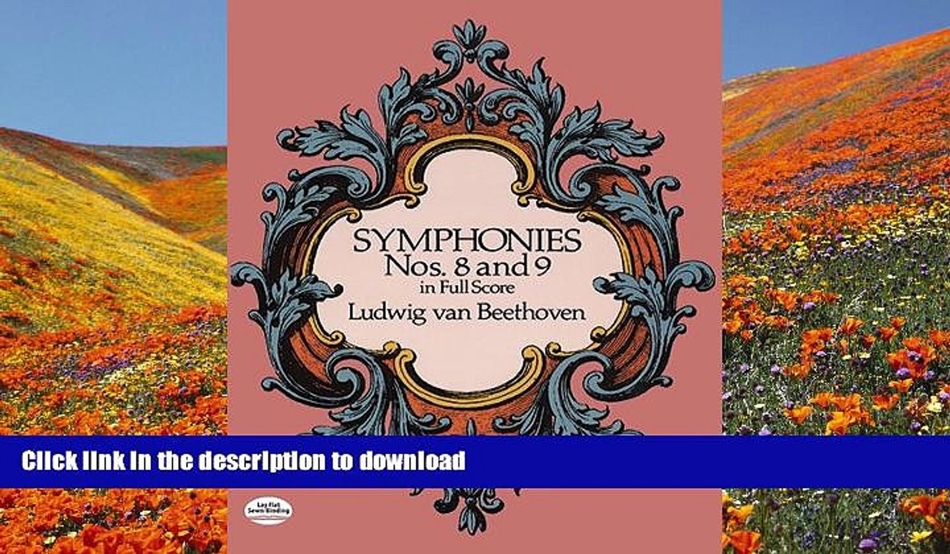 FREE [DOWNLOAD] Symphonies Nos  8 and 9 in Full Score (Dover Music Scores)  Ludwig van Beethoven