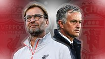 Mourinho vs Klopp   Discussion in the middle of the game   Man utd 1-1 Liverpool