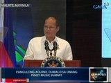 Pres. Aquino, ipinaalala ang batas na nag-aatas sa mga FM station na magpatugtog ng OPM