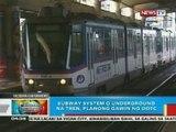BP: Subway system o underground na tren sa Metro Manila, planong gawin ng DOTC