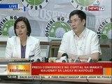 Press conference ng Ospital ng Makati kaugnay sa lagay ni Napoles