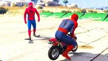 Comptines Bébé - Dessin animé francais Motos colorées et Spiderman Mcqueen Cars| Colors fo