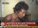UB: 3 arestado sa buy bust operation sa isa umanong drug den sa Iloilo