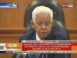 Laguna Gov. Er Ejercito, pinabababa sa pwesto dahil sa overspending noong Eleksyon 2013
