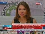 Press conference sa Ospital ng Makati kaugnay ng iniutos na paglalabas kay Janet Lim-Napoles