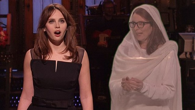 Felicity Jones and Tina Fey Pays Tribute To Carrie Fisher on SNL