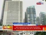 BT: GDP growth rate ng Pilipinas sa 1st Quarter ng 2014, bumagal