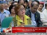 NTVL: Confirmation hearing ni Sec. Leila De Lima