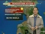 UH: Ilang bahagi ng Metro Manila, nakaranas ng thunderstorm kaninang madaling araw