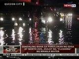 QRT: Sandaling baha sa panulukan ng Edsa at North Ave., dulot ng 'flushing' ng Manila water