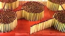 He Sets Up Matches In A Design. Now Watch What Happens When He Lights It…