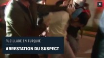 Fusillade d'Istanbul : images vidéo de l'arrestation du suspect