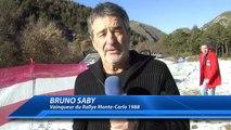 Rallye Monte-Carlo : Bruno Saby, François Delecour et les pilotes du Rallye à reconnaissance de la spéciale Bayons-Brézi