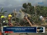 Saksi: 4 sugatan sa pagbagsak ng Sokol helicopter ng Phl Air Force sa Marawi City