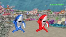 Sharks Cartoons Finger Family Rhymes For Children | Sharks Kids Nursery Rhymes Collection