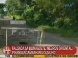 UB: Kalsada sa Dumaguete, Negros Oriental, pinangangambahang gumuho
