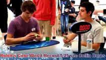 Rubik's Cube World Record 5.25 sec Collin Burns Slow Motion