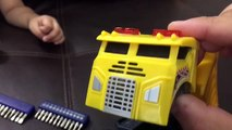 Whats INSIDE TOY Trucks For Kids - MATCHBOX Pop Up Rigs DUMP TRUCK - Take Apart Toy How Toys Work