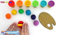 Kids Toys P3  Learn Rainbow Colors with PlayDoh  Creative Fun for Kids with Play Dough Art   YouTube