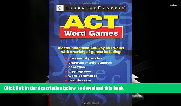 BEST PDF  ACT Word Games BOOK ONLINE
